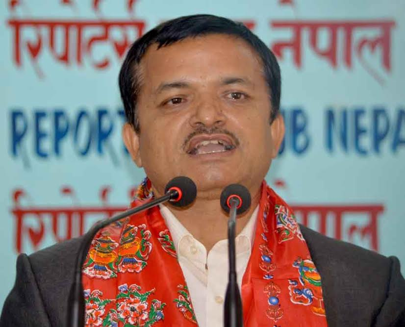 dr poudel at reporters club