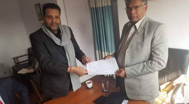 नेपाल बिस्कुट उत्पादक संघले उद्योग वाणिज्य तथा आपूर्ति मन्त्रीलाई बुझायो ज्ञापन