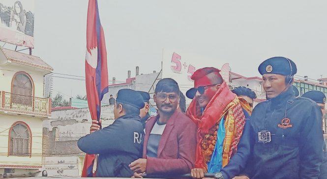 क्रिकेटर अविनाशको नेपालगञ्जमा स्वागत