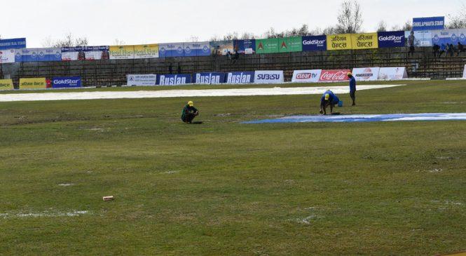 डीपीएल : वर्षाका कारण आजको खेल रद्द