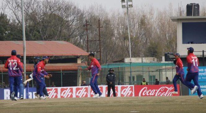 आईसीसीमा नेपालद्वारा अमेरिका ३५ रनले पराजित