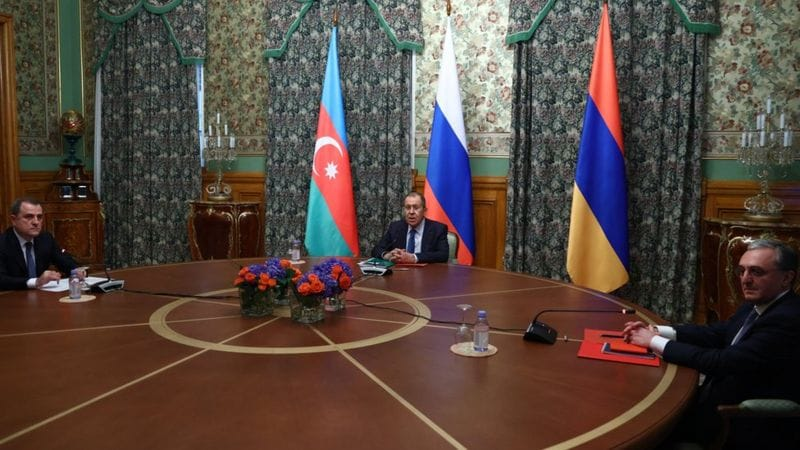 अर्मेनिया र अजरबैजानबीच अस्थायी शान्तिसम्झौता