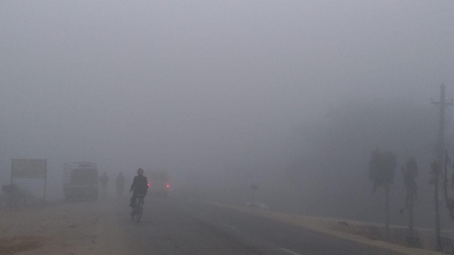 बाँकेसहित तराईका जिल्लामा बाक्लो हुस्सु