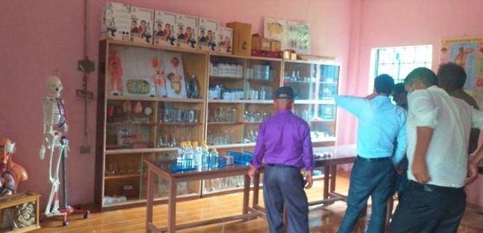 डुडुवाको एक विद्यालयमा बिज्ञान प्रयोगशाला स्थापना